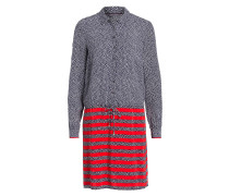 Kleid AVRIL - dunkelblau/ rot/ weiss