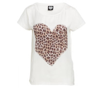 T-Shirt HEART OF WILD - offwhite/ braun