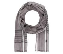 Schal - grau meliert/ schwarz/ weiss