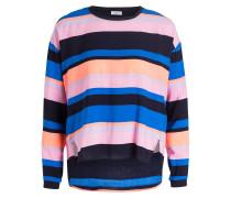 Longsleeve - blau/ schwarz/ rosa gestreift