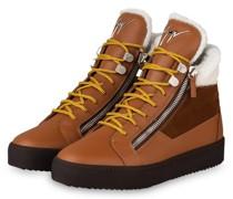 Hightop-Sneaker MAY LONDON - COGNAC