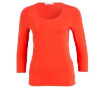 Shirt mit 3/4-Arm - orangerot