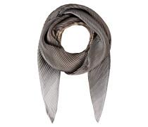 Plissee-Schal - grau/ braun