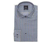 Hemd SANTOS Slim-Fit - oliv/ blau/ schwarz