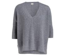 Cashmere-Pullover - grau