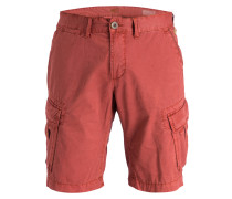 Cargo-Shorts Straight-Fit - rostrot
