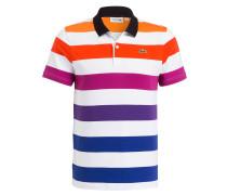 Jersey-Poloshirt - weiss