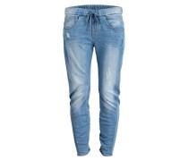 Jeans im Jogging-Stil - blau