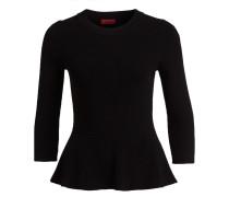 Pullover SATINKA mit 3/4-Arm - schwarz