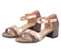 Sandalen - taupe/ rosé metallic