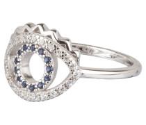 Ring MINI EYE - silber/ blau
