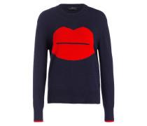 Pullover - dunkelblau/ rot