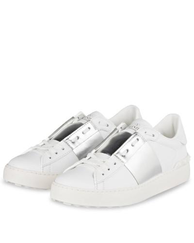 Sneaker OPEN - WEISS/ SILBER METALLIC