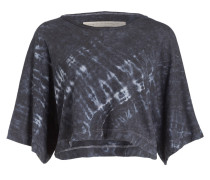 Cropped-Shirt - dunkelblau