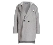 Mantel mit Kapuze - grau meliert