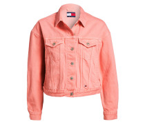 Jeansjacke - rosa
