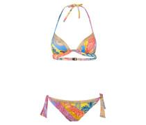 Triangel-Bikini ART - blau/ gelb/ rot
