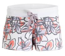 Shorts - weiss/ flieder/ koralle