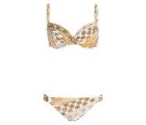 Bügel-Bikini ORIENT - curry/ weiss