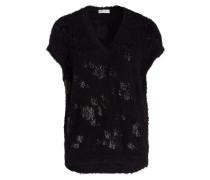 Pullover mit Pailletten - schwarz