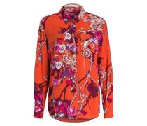 Bluse - orange/ violet/ pink