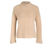 Cashmere-Pullover mit Struktur - braun