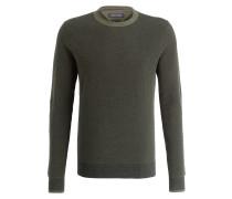 Pullover - oliv/ schwarz