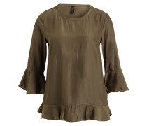 Bluse AILEEN mit 3/4-Arm - oliv