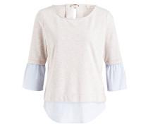 Sweatshirt - beige/ hellblau