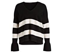 Pullover - schwarz/ wollweiss