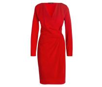 Kleid in Wickeloptik - rot