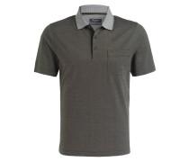 Piqué-Poloshirt - oliv/ weiss