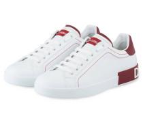 Sneaker PORTOFINO - WEISS/ ROT