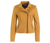 Jacke im Biker-Stil - ocker