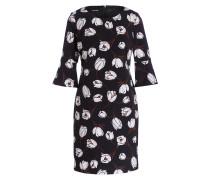Kleid mit Trompetenärmeln - schwarz