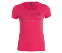 T-Shirt TRAIN mit Schmucksteinbesatz