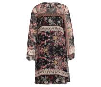 Kleid CIDAIRA - schwarz/ rot/ senfgelb