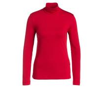 Shirt mit Stehkragen - rot