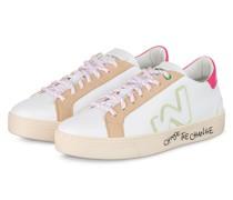 Sneaker SNIK - WEISS/ CAMEL/ PINK