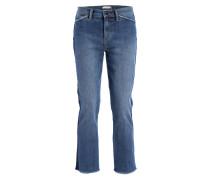 7/8-Jeans mit Galonstreifen - blau