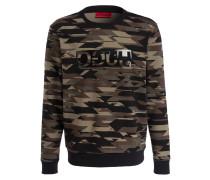 Sweatshirt DRIGGS - schwarz/ braun/ kaki