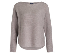 Cashmere-Pullover - taupe meliert