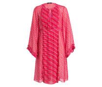 Kleid - pink/ rot/ weiss