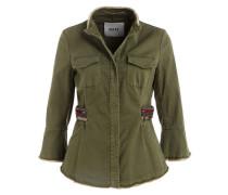 Blazer-Jacke mit 3/4-Arm - olive