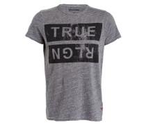 T-Shirt - schwarz/ grau meliert