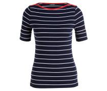 T-Shirt LILA - navy/ weiss gestreift