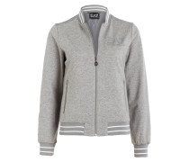 Sweatjacke TRAIN GYM LUX - grau meliert