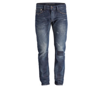 Destroyed-Jeans RAZOOR Slim-Fit - blau