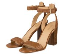 Sandaletten PETRA - HELLBRAUN