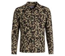 Overshirt Slim-Fit - khaki/ schwarz/ braun